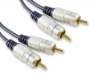 Superior Shielded 1m Twin Phono RCA Leads - 3.28ft